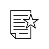 Icona del documento premio o logo nella linea stile Fotografia Stock Libera da Diritti