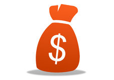 Icona del dollaro Fotografia Stock