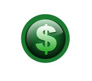 Icona del dollaro Fotografia Stock Libera da Diritti