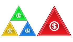 Icona del dollaro, segno, illustrazione Fotografie Stock