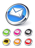 Icona del email Fotografie Stock Libere da Diritti