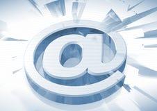 icona del email 3D Fotografia Stock Libera da Diritti