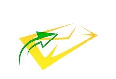 Icona del email con la freccia Immagine Stock Libera da Diritti