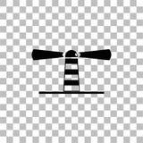 Icona del faro piana royalty illustrazione gratis