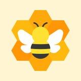 Icona del favo e dell'ape Immagini Stock Libere da Diritti