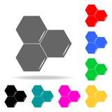 Icona del favo Elementi della scuola ed icone colorate di studio di multi Icona premio di progettazione grafica di qualità Icona  illustrazione vettoriale