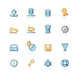 Icona del file server di profilo Fotografia Stock