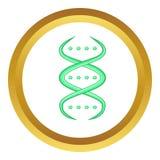Icona del filo del DNA illustrazione vettoriale