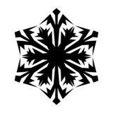 Icona del fiocco di neve Natale e tema di inverno Illustrazione semplice del nero piano su fondo bianco illustrazione di stock