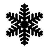 Icona del fiocco di neve Natale e tema di inverno Illustrazione semplice del nero piano su fondo bianco royalty illustrazione gratis