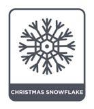icona del fiocco di neve di natale nello stile d'avanguardia di progettazione icona del fiocco di neve di natale isolata su fondo illustrazione di stock