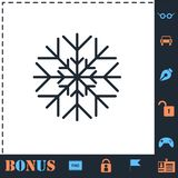 icona del fiocco di neve piana illustrazione di stock