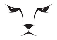 Icona del fronte del gatto Fotografia Stock