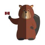 Icona del fumetto del castoro Immagine Stock Libera da Diritti