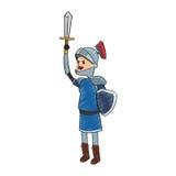 Icona del fumetto del cavaliere Immagini Stock