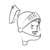 Icona del fumetto del cavaliere Immagine Stock Libera da Diritti