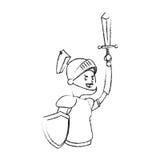 Icona del fumetto del cavaliere Fotografia Stock Libera da Diritti