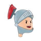 Icona del fumetto del cavaliere Fotografie Stock Libere da Diritti