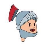 Icona del fumetto del cavaliere Immagini Stock Libere da Diritti