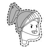 Icona del fumetto del cavaliere Fotografia Stock