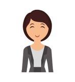 Icona del fumetto della donna Progettazione della persona Grafico di vettore royalty illustrazione gratis