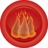 Icona del fuoco Immagini Stock