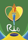 Icona del fuoco della torcia di Illustartion di Rio Illustrazione Vettoriale