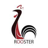 Icona del gallo Logo del gallo Illustrazione di vettore Illustrazione di Stock