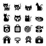 Icona del gatto illustrazione vettoriale