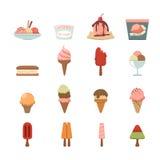 Icona del gelato Immagine Stock