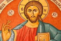 Icona del Gesù Cristo in Cipro Immagini Stock