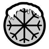 Icona del ghiaccio Immagine Stock