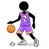 Icona del giocatore di pallacanestro Immagini Stock Libere da Diritti