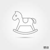 Icona del giocattolo del cavallo a dondolo Fotografia Stock Libera da Diritti