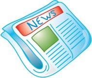 Icona del giornale Fotografia Stock