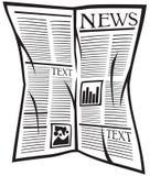 Icona del giornale di vettore Fotografia Stock