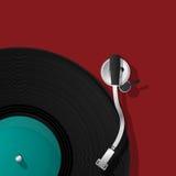 Icona del giradischi del DJ Immagini Stock