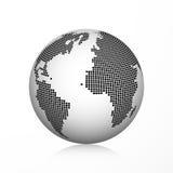 Icona del globo della terra del pixel Immagine Stock Libera da Diritti