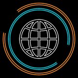 Icona del globo, pianeta della terra - mondo globale, segno globale - mappa isolata royalty illustrazione gratis