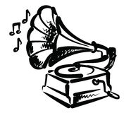Icona del grammofono Immagini Stock Libere da Diritti