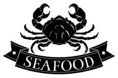 Icona del granchio dei frutti di mare Fotografie Stock