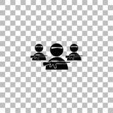 Icona del gruppo del bandito pianamente illustrazione di stock