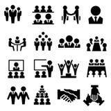 Icona del gruppo di affari Fotografie Stock