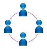 Icona del gruppo umana Immagini Stock