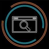Icona del HTML di ricerca, icona di ricerca di Internet, motore di ricerca royalty illustrazione gratis