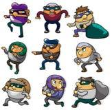 Icona del ladro del fumetto Immagine Stock