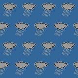 Icona del lavoratore - lavoro a contratto con l'icona della nuvola del illustrationRain di vettore del casco del casco, PICCHIETT royalty illustrazione gratis