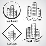 Icona del logotype di vettore della società immobiliare Immagine Stock