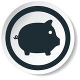 Icona del maiale Immagine Stock