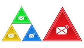 Icona del messaggio, segno, illustrazione Fotografia Stock Libera da Diritti